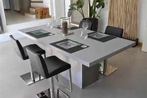 Table A Manger Grise : galaxy line 2 table a manger b ton et acier design ~ Melissatoandfro.com Idées de Décoration