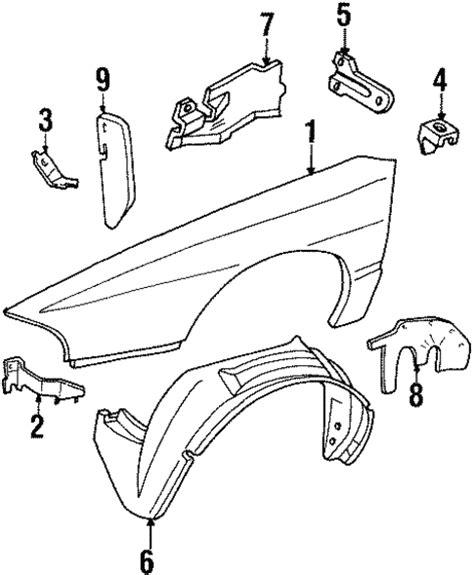 auto body repair training 1994 pontiac bonneville windshield wipe control oem 1997 pontiac bonneville fender components parts gmpartsonline net