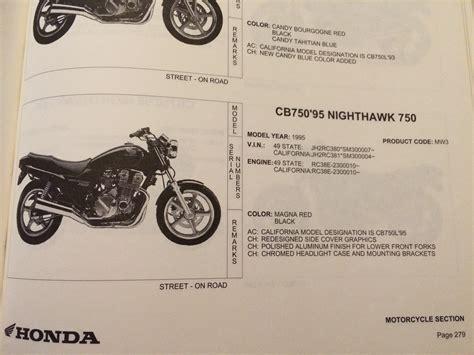 Honda Motorcycle Engine And Serial Number