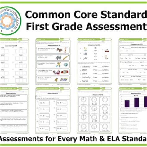First Grade Common Core Assessment Workbook Paperback