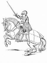 Medieval Archer Drawing Coloring Pages Castle Knight Getdrawings sketch template