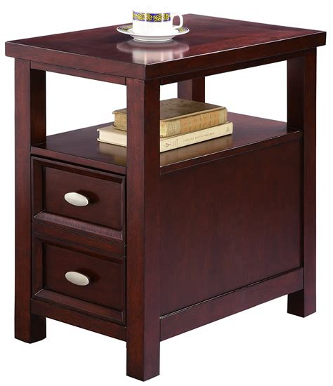 end tables with drawers narrow end table with drawers home furniture design