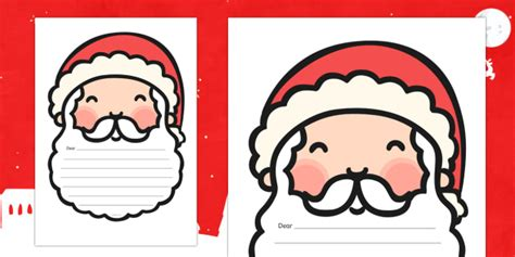 letter  santa template writing template template writing