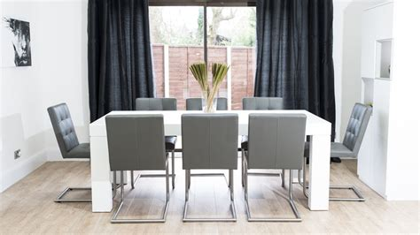 white and oak dining table set large white oak dining set for 8 people real leather