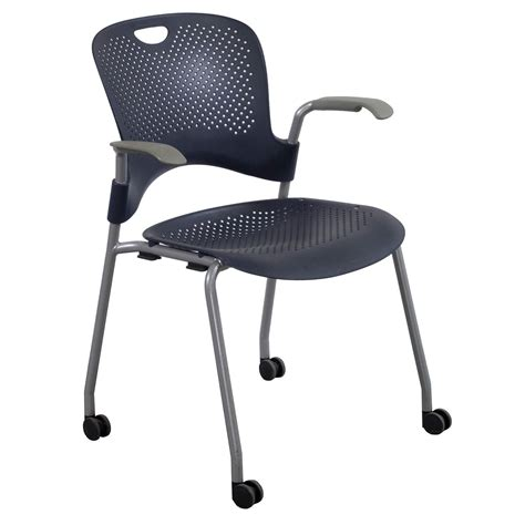 herman miller caper used stack chair blue national