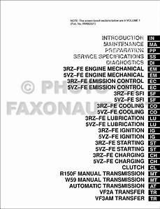 1999 Toyota 4runner Repair Shop Manual 2 Volume Set Original