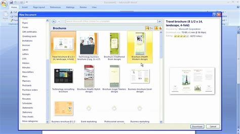 Brochure Templates Free For Word 2007 Brochure Templates For Word 2007 The Best Templates