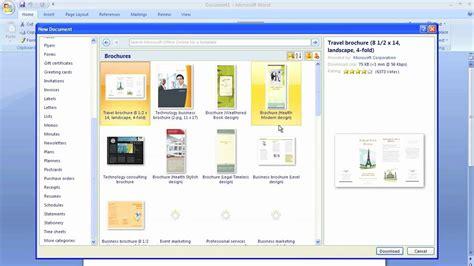 microsoft word brochure template youtube
