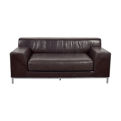 Ikea Leather by 90 Ikea Ikea Kramfors Brown Leather Seat Sofas