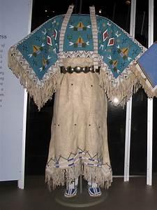 yankton dakota sioux two hide pattern dress with fully b