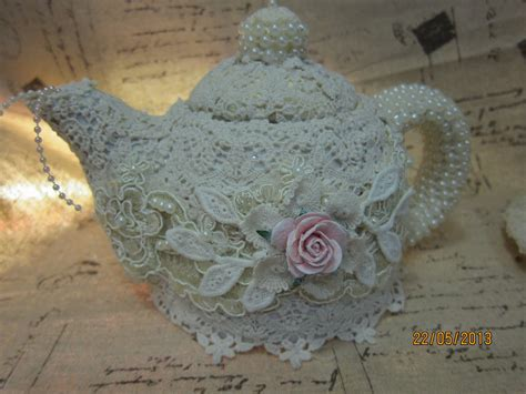 Msgardengrove1 Altered Shabby Chic Teacup And Teapot For