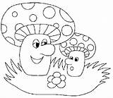 Coloring Pages Mushrooms Print Coloringpages1001 sketch template