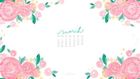 March Watercolor Calendar Desktop Download   MOSPENS STUDIO