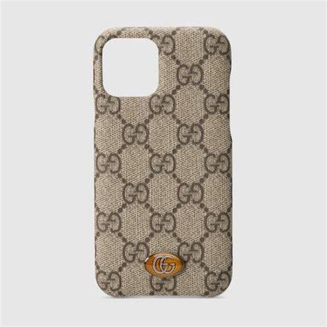 beige ebony gg supreme ophidia iphone pro case