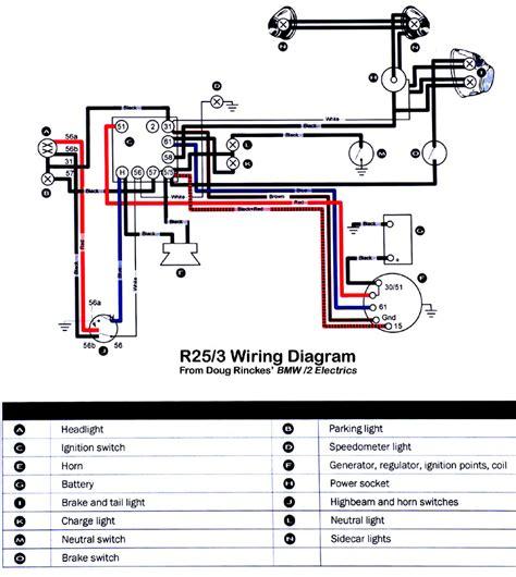 wiring diagram bmw r25 1954 bmw r25 3
