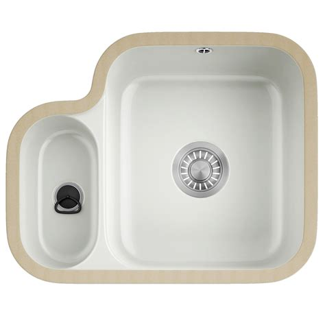 franke ceramic kitchen sinks franke v and b vbk 160 ceramic white 1 5 bowl undermount 3519