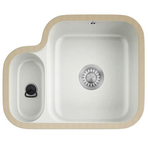 ceramic undermount kitchen sink franke v and b vbk 160 ceramic white 1 5 bowl undermount