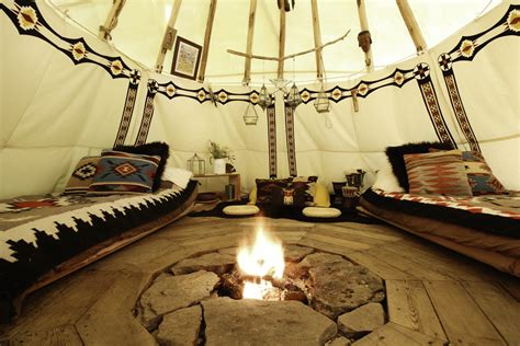 beautiful indian homes interiors the bellfire farm tipi hideaway in roxbury ny escape