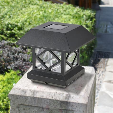 outdoor solar l post ip65 water resistant outdoor solar powered light sensor