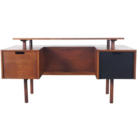 floating desk for sale early floating top desk by milo baughman for sale at 1stdibs