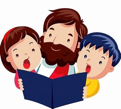 God Jesus Children Praising Clip Cartoon Clipart