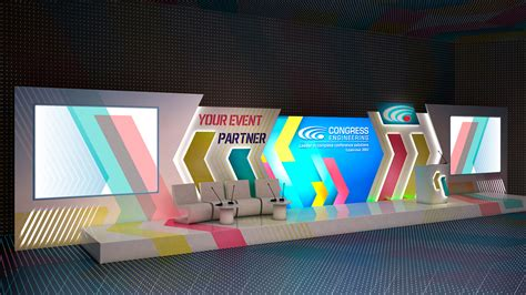 project corporate event stage design  behance