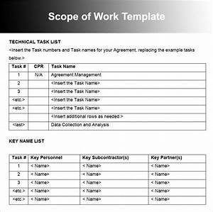 scope of work template printable scope of work template With construction statement of work template