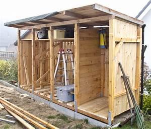 Holzunterstand Selber Bauen : bau eines holzlagers ~ Whattoseeinmadrid.com Haus und Dekorationen