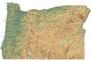 Detailed Oregon Map - OR Terrain Map Oregon