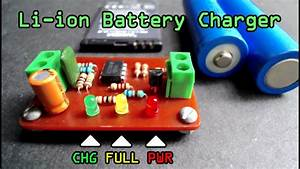 3 7v Smart Li-ion Battery Charger Using Lm358n