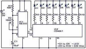 Disco Led Lights Circuit Using Ic 555