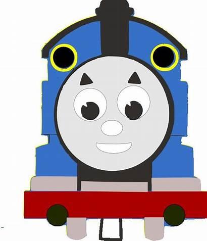 Thomas Train Svg Silhouette Card Face Birthday
