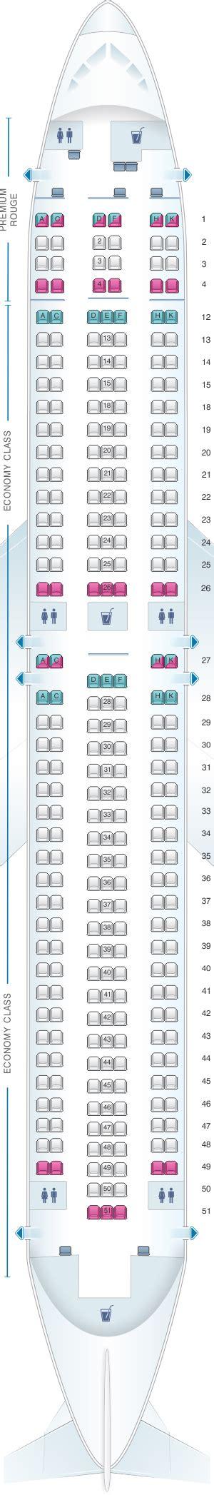 plan siege air plan de cabine air canada boeing b767 300er 763