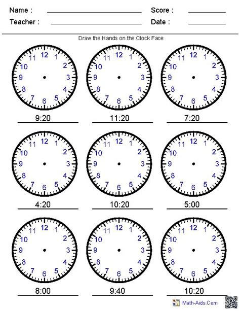 22 best images about telling time printables on
