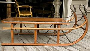 unusual coffee table in the form of a sled at 1stdibs With antique sled coffee table