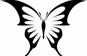 Gem Swallowtail Butterfly Stencil - Traditional - Wall ...