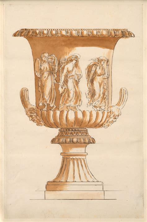 anonymous roman draughtsman study   borghese vase