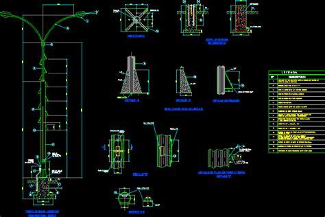 light poles dwg detail  autocad designs cad