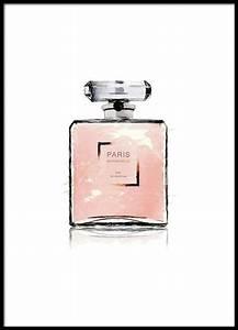 Coco Chanel Bilder : poster mit rosa flakon poster mit chanel ~ Cokemachineaccidents.com Haus und Dekorationen