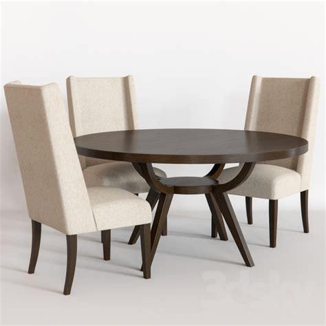 3d models table chair west elm arc base pedestal