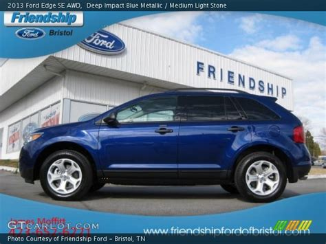 2013 Ford Edge Se by Impact Blue Metallic 2013 Ford Edge Se Awd Medium
