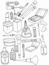 Coloring Makeup Aesthetic Printable Cosmetic Ausmalbilder Coloringtop Letter Doodle Detailed Wednesday Fun Looking Doll Malvorlagen Zum Eyeliner sketch template