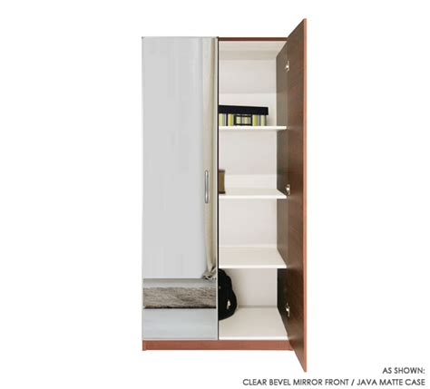 Mirrored Wardrobe With Shelves by Wardrobe Closet W 2 Doors And 3 Interior Shelves 21 75 Quot D