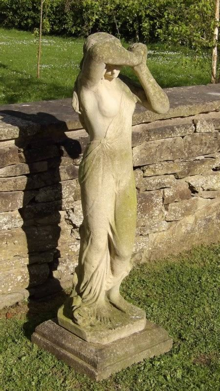 weathered garden statue holloways garden antiques