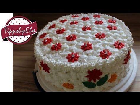 blumentorte selber machen muttertagstorte korb torte selber machen anleitung basket pattern birthday cake how to