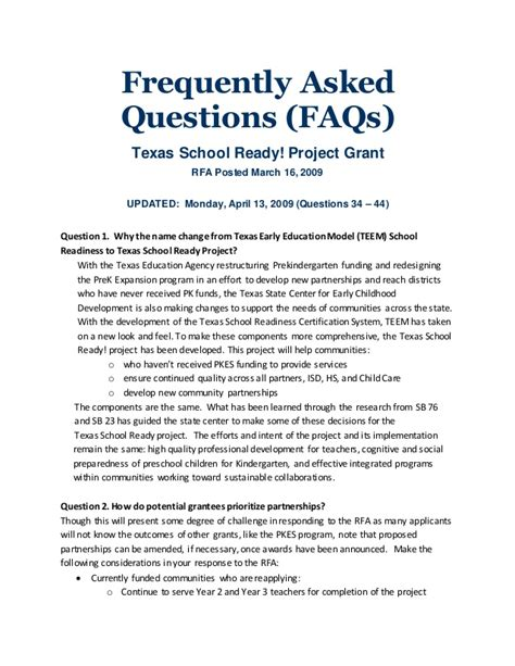 Frequently Asked Questions About The Gnu Ready Project Grant Frequently Asked