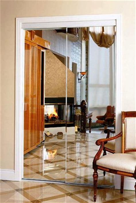 Beveled Mirror Closet Doors by Colonial Elegance Beveled Frameless Mirrored Sliding Door