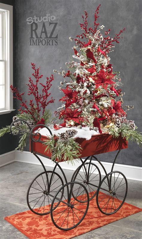 beautiful decorated trees ಌ ƥơἶຖꭶε ἶค ಌ holidays poinsettias 4381