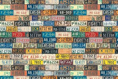 Background Numbers Letters States Wallpapers Plate License