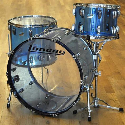 ludwig vistalite  pc drum kit blue acrylic reverb